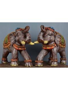 Graceful gray colour elephant statue Wood Crown Molding, Door Brackets, Wooden Elephant, Dark Wax, Interior Design Kitchen, Beautiful Birds, Gray Color, Colour, Color