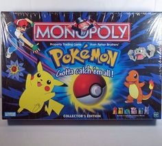 Sealed Pokemon-Monopoly-Collectors-Edition-1999 Color Tokens #ParkerBrothers