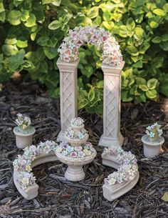 Porcelain Perfection Miniature Fairy Garden Set | Victorian Trading Co.