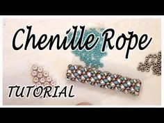BeadsFriends: Tubular beadwork tutorial (Chenille Stitch) - A simple idea for a tubular beadwork - YouTube