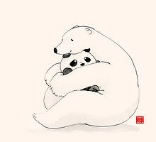 «Bear Hug» de Panda And Polar Bear