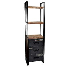 Industrial - Bookcase with Metal Drawers