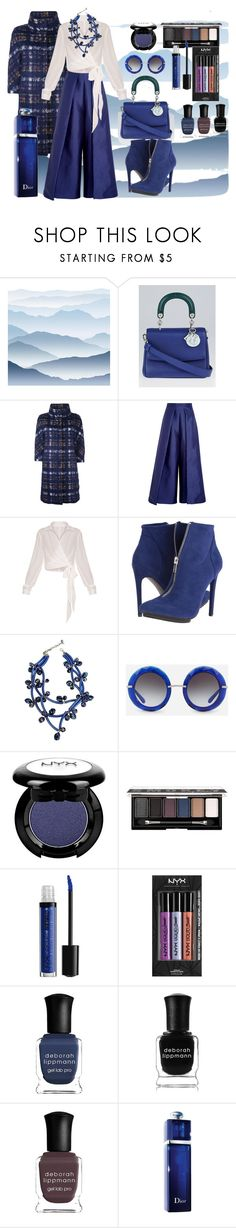 """""""Deep blue"""" by mariloli1303 ❤ liked on Polyvore featuring York Wallcoverings, Christian Dior, Herno, Solace, Michael Antonio, Dolce&Gabbana, NYX and Deborah Lippmann"""