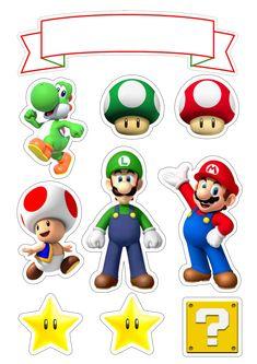 Super Mario Bros, Super Mario Party, Super Mario Birthday, Mario Birthday Party, Boy Birthday, Mario Und Luigi, Mario Bros., Lego Mario, Mario Bros Kuchen
