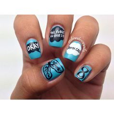 This Nail Art Will Make You 'Okay' After 'The Fault In Our Stars' featuring polyvore nails tfios