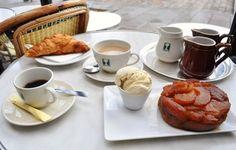 Breakfast at cafe Aux Deux Magots, Paris