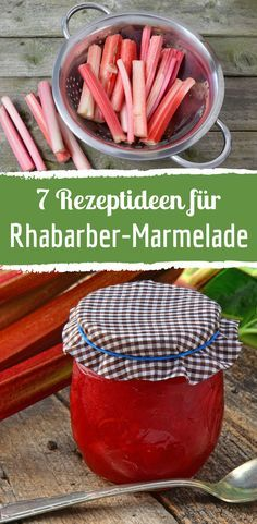 Rhubarb jam: 7 recipe ideas for that special something - Marmelade - Healthy Low Carb Recipes, Healthy Eating Tips, Healthy Nutrition, Healthy Smoothies, Healthy Drinks, Smoothie Recipes, Drink Recipes, Chutneys, Italy Food