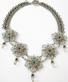 Handmade Beadwork Jewelry Inspiration Celestial Blossom Necklace