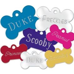 Pet ID Tags can help a person contact you if your favorite friend gets loose this summer. Some Text, Pet Id Tags, Personalized Tags, Name Tags, Baby Safe, Cat Collars, Customized Gifts, Custom Gifts, Freckles