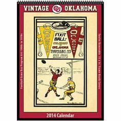 OU Sooners 2014 Vintage Calendar