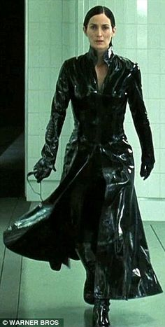Kris Jenner donned a sweeping black leather trench coat while out in Los Angeles on Tuesday, looking like she had just walked off the set of The Matrix. Description from dailymail.co.uk. I searched for this on bing.com/images