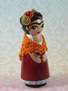 Darling little Frida Peg Doll