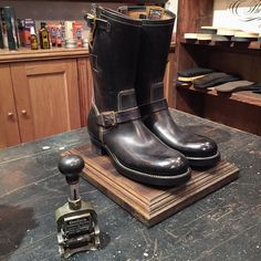 Clinch Boots at Brass Co. (made in japan, craftsmanship, engineer boots)