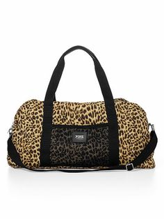 The top 5 best women gym bags out there! : Been obsessed with VS gym bags lately! I need one (: cute ones in store too. Sacs Victoria Secret, Victoria Secret Sport, Leopard Bag, Pink Leopard, Leopard Prints, Snow Leopard, Cheetah, Cute Gym Bag, College Girl Fashion