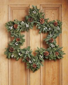 Star Wreath - contemporary - holiday outdoor decorations - - by Williams-Sonoma