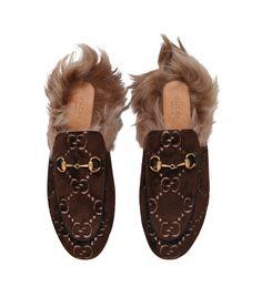 2bd92b9cfa8 Gucci Velvet Princetown GG Slippers  AD