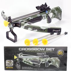 Kids Toy Crossbow with Scope & Arrows    #hunting #bowhunt #huntinggear #deerseason #turkeyseason #hunter #buck