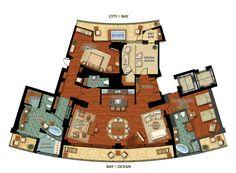 resort floor plans | Presidential Suite