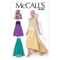 McCall's 7329 Sewing Pattern - Misses' Gathered Skirts