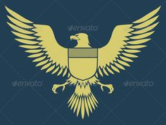 Coat of Arms Bird   #GraphicRiver         Vector