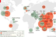 Map of the Indian and Chinese diasporas. http://econ.st/UzAsuN