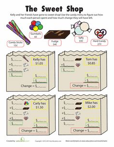 money word problems 1 what 39 s the correct change in this money math worksheet your child will. Black Bedroom Furniture Sets. Home Design Ideas