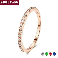 c732454bbb1f Details about Wedding Ring For Women Man Mini Cubic Zirconia Rose Gold Color