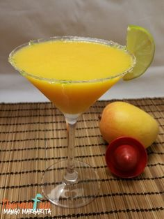This Thermomix Mango Margarita Cocktail is the perfect addition to those summer nights sitting back & enjoy a cool breeze or watching the storms roll on by Mango Margarita, Margarita Recipes, Cocktail Recipes, Mango Cocktail, Margarita Cocktail, Easter Drink, Mulberry Recipes, Easy Mixed Drinks, Spagetti Recipe