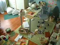 An average day in my Studio by PatchworkPottery, via Flickr