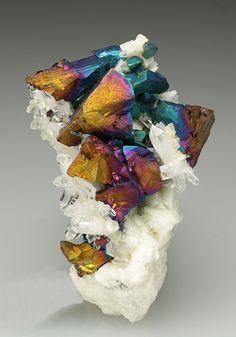 Chalcopyrite, Quartz and Dolomite - Greystones Quarry, Lezant, Cornwall, England