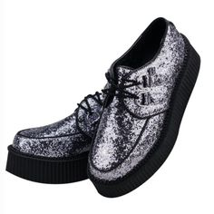 Glitter Mondo Round Creepers -DollsKill prices is firm T.U.K. Shoes
