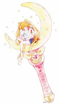 Image about anime in Usagi Tsukino/Sailor Moon 💛🐰 by Sailor Mars, Sailor Venus, Arte Sailor Moon, Sailor Moon Fan Art, Sailor Moon Usagi, Sailor Jupiter, Sailor Moon Wands, Sailor Neptune, Sailor Scouts