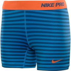 """Nike Women's Printed 5"""" Compression Shorts in Blue Glow/ Shaded Blue"""
