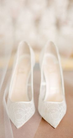 Beautiful sheer white wedding shoes   Pinned from: http://www.stylemepretty.com/ via  MISS MILLIONAIRESS   #WeddingShoes