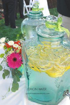 Good Water/Lemon Water: 5 quarts water 3 C sugar 1 Tbsp lemon extract 1 Tbsp citric acid (buy from canning section - cheaper!) 3 sliced lemons ½ pkg of ice