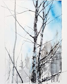 Elisabeth Biström watercolor 2018 Watercolors, Snow, Outdoor, Instagram, Outdoors, Water Colors, Watercolor Paintings, Outdoor Games, The Great Outdoors