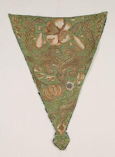 Stomacher Date: 1725–50 Culture: possibly British Medium: Silk, metallic Accession Number: 2009.300.4073