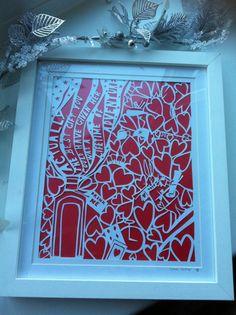 Framed Alice in wonderland paper cutting hand by papercutprincess1, £50.00