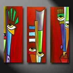 Art 'Apart' – by Thomas C. Fedro from Faces Art 'Apart' – by Thomas C. Fedro from Faces Pintura Graffiti, Cubist Art, Motif Art Deco, Abstract Face Art, Africa Art, Modern Art Paintings, Diy Canvas Art, Arte Pop, Wood Art