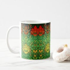 Retro Botanical Coffee Mug - home gifts ideas decor special unique custom individual customized individualized
