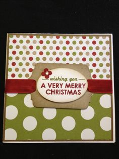 #stampinup #christmas #card