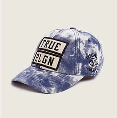True Religion Marble dyed Baseball Cap