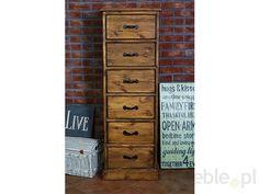 Drewniana komoda sosnowa Rustyk 6/1, SEART furniture - Meble