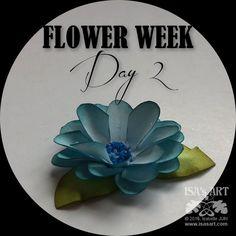 ISA'sART: FLOWER - LA BELLE BLEUE (tuto P188-189)