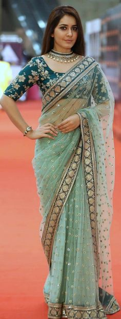 'Pinterest: @Littlehub || Sabyasachi~❤。An Exquisite Clothing World || Rashi kanna in sabyasachi saree More