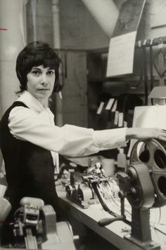 More sisters in the labor movement: Gloryette Clark, Film Editor from Local Pokerface, Film Reels, 35mm Film, Movie Theater, In Hollywood, Filmmaking, Old School, Behind The Scenes, Actors
