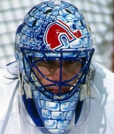 November marks the anniversary of the first time a goalie, Jacques Plante, wore a mask in an NHL game. Not quite the same as Willie O'Ree breaking the NHL's color barrier, or … Hockey Helmet, Hockey Goalie, Football Helmets, Quebec Nordiques, Goalie Mask, Hockey Rules, Mask Painting, Nhl Games, Colorado Avalanche