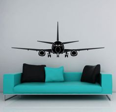 Airplane landing takeoff Vinyl Wall Decal
