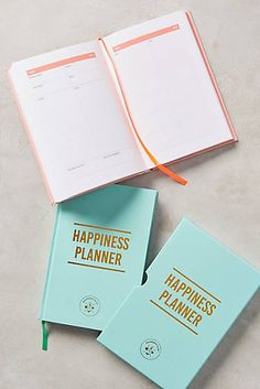 Anthropologie The Happiness Planner - The Happiness Planner focuses on positive thinking and personal progress, with 100 open-dated pages and spaces for reflection and goal-setting 2017 Planner, Blog Planner, Happy Planner, Study Planner, Korean Stationery, Kawaii Stationery, Anthropologie Gifts, Personal Progress, Bullet Journal