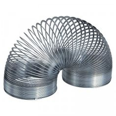 An American classic, the Original Slinky Jr. is made of metal and measures an inch and a quarter in both diameter and height.